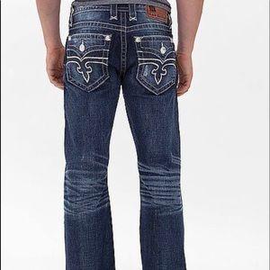 online retailer 1d694 fcc07 Rock Revival Layne Relaxed Straight Jeans Men's 40
